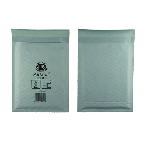 Jiffy AirKraft Bag Size 0 140x195mm White (Pack of 100) JL-0