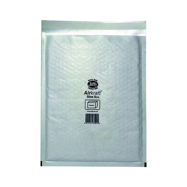 Jiffy AirKraft Bag Size 5 260x345mm White (Pack of 50) JL-5
