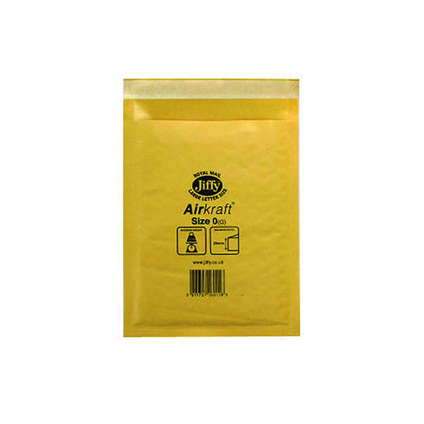 Image for Jiffy AirKraft Bag Size 0 140x195mm Gold GO-0 (Pack of 10) MMUL04602