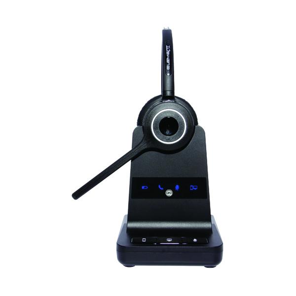 JPL Element X500 Wireless Headset Interchangeable Headband And UC Modular Basestation Black JPL-X500