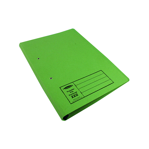 Exacompta Guildhall Transfer File 285gsm Foolscap Green (Pack of 25) 346-GRNZ
