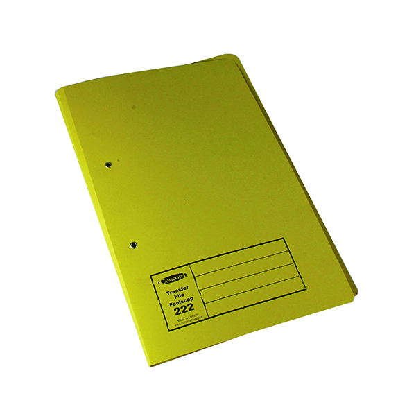 Exacompta Guildhall Transfer File 285gsm Foolscap Yellow (Pack of 25) 346-YLWZ