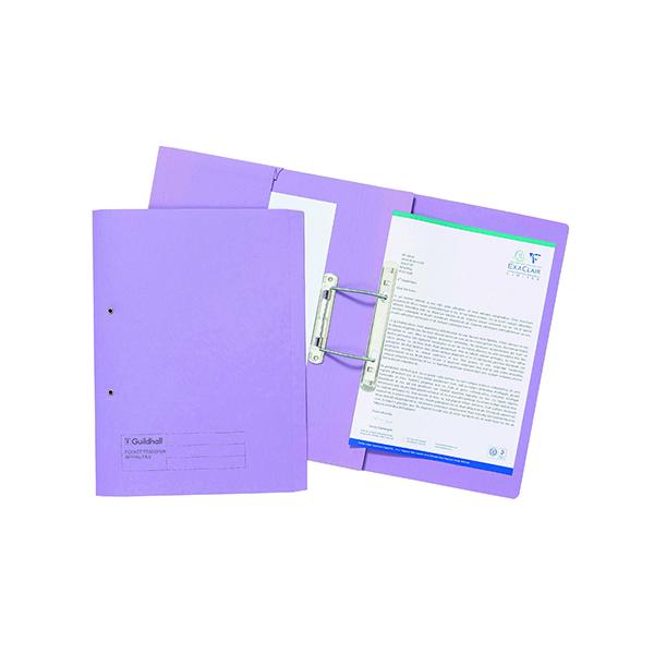 Exacompta Guildhall Transfer Spiral Pocket File 315gsm FC Mauve (Pack of 25) 349-MVEZ