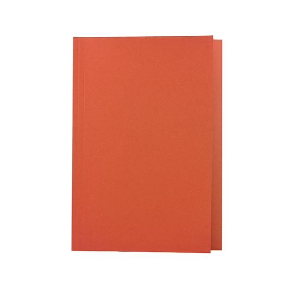 Guildhall Square Cut Folder Mediumweight Foolscap Orange (Pack of 100) FS250-ORGZ