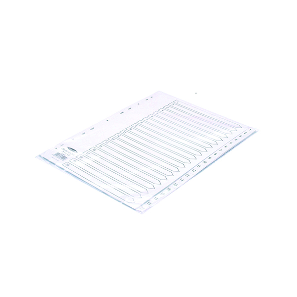 Concord Index 1-20 A4 Polypropylene White 64401