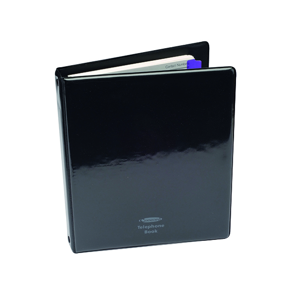 Image for Concord Telephone/Address Book A5 Black 83010/CD6