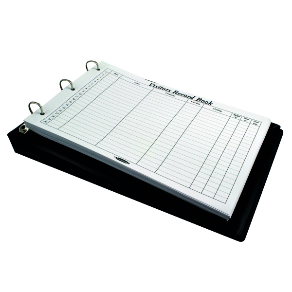 Concord Visitor Book A4 Landscape Black 85710/CD14