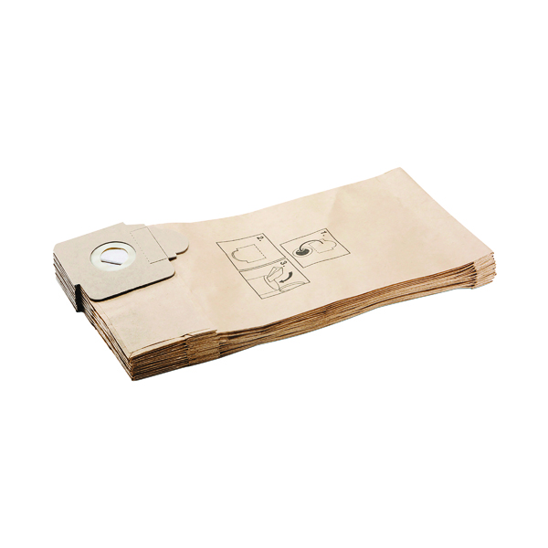 Karcher Professional Vacuum Paper Filter Bags (Pack of 10) 6.904-376.0
