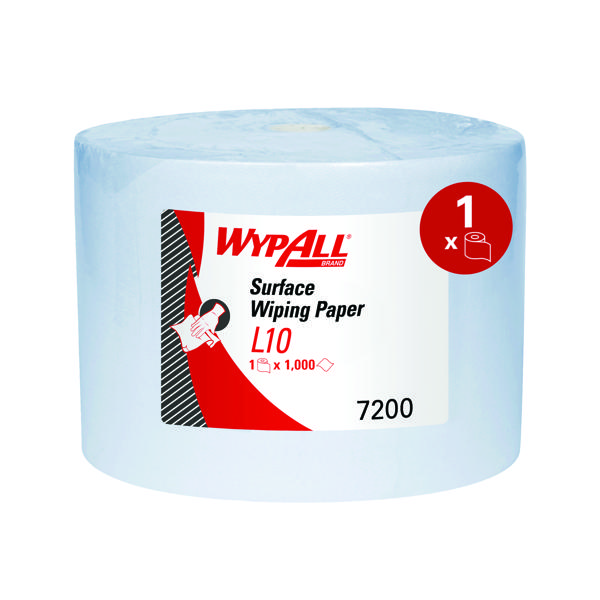 Wypall L10 Extraplus Wipes 1000Sht Blue 7200