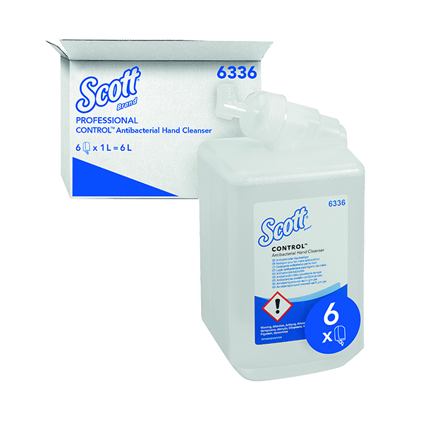 Scott Antibacterial Hand Soap Refill 1 Litre (Pack of 6) 6336