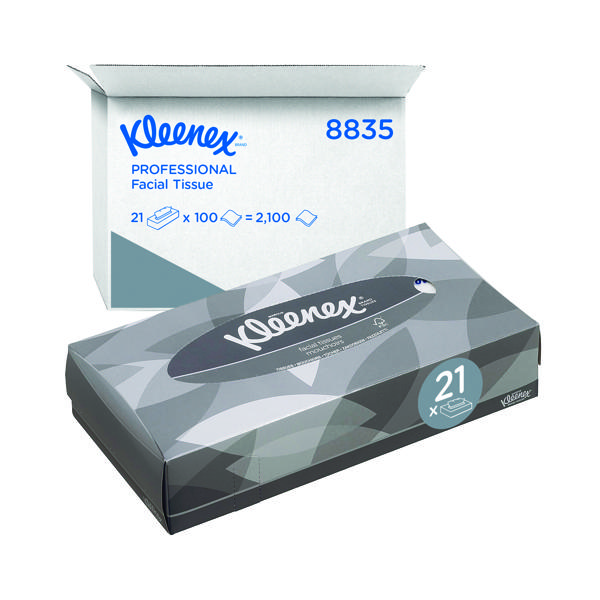 Kleenex Facial Tissues Box 100 Sheets (Pack of 21) 8835