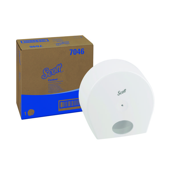 Scott Control Toilet Tissue Dispenser White (For use with 8569 Scott Control Toilet Tissue) 7046