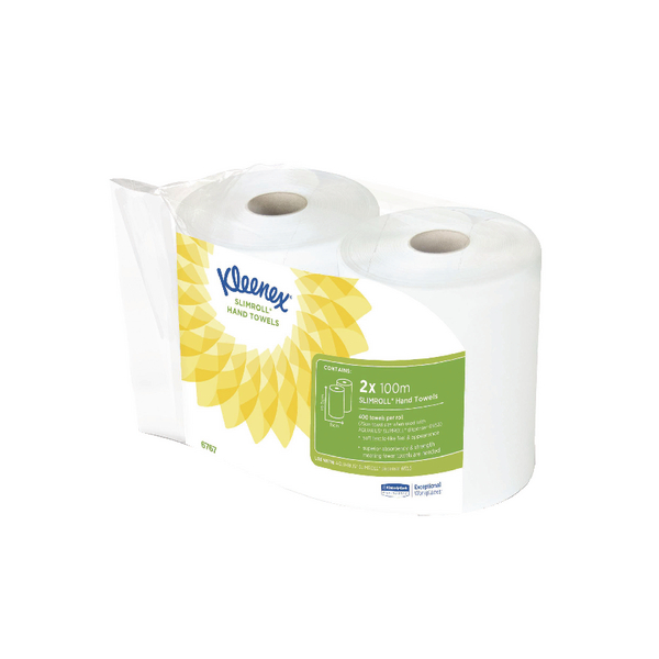 Kleenex Slimroll Carry Pack (1-Ply Tissue, Pack of 2 Rolls) 6767