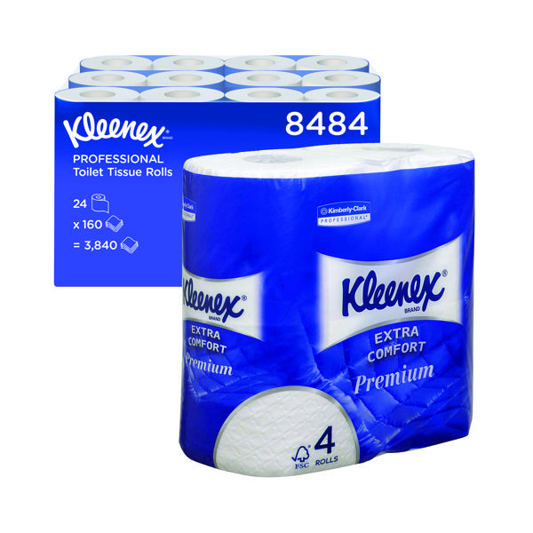 Kleenex 4-Ply Quilted Toilet Roll (Pack of 24) 8484