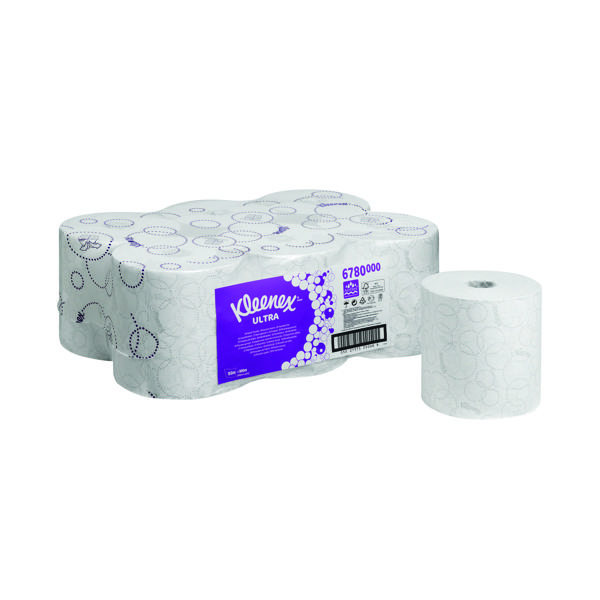 Kleenex Ultra Hand Towel Roll White 150m (Pack of 6) 6780