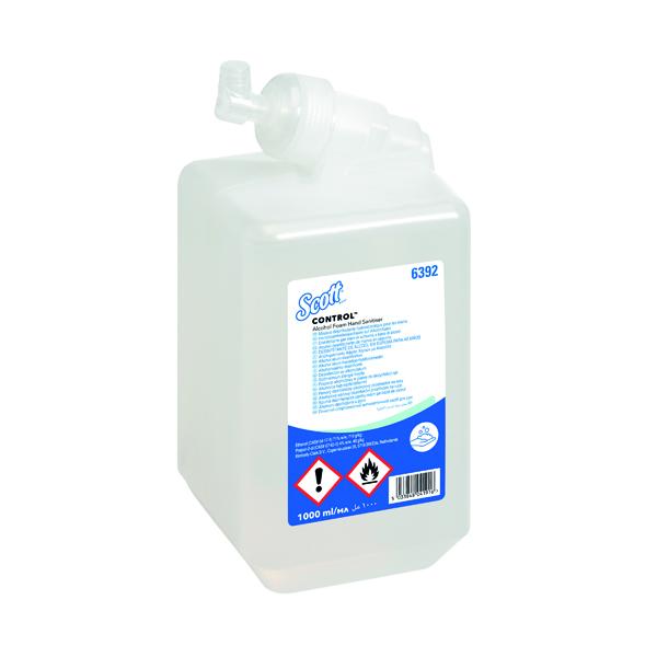 Scott Alcohol Foam Hand Sanitiser 1L (Pack of 6) 6392