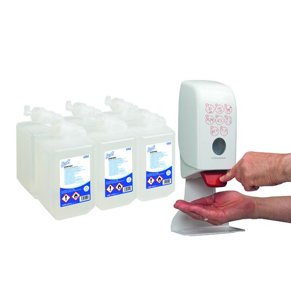 Scott Alcohol Foam Hand Sanitiser 1L (Pack of 6) FOC Dispenser