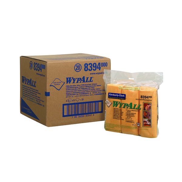 Wypall Microfibre Cloth Yellow (Pack of 6) 8394