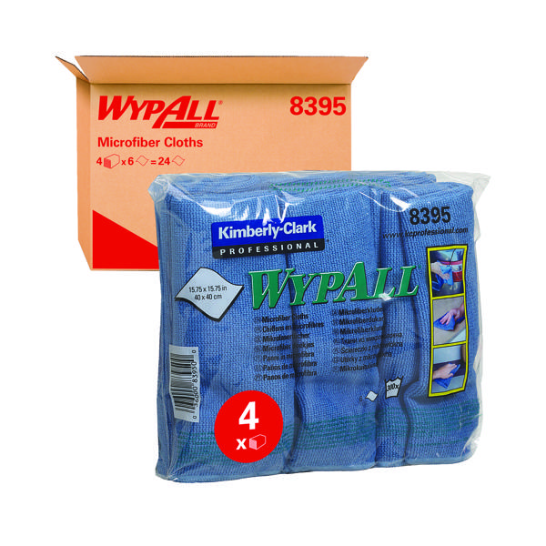 Wypall Microfibre Cloth Blue (Pack of 6) 8395