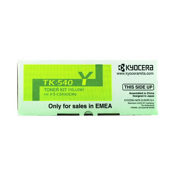 Kyocera TK-540Y Yellow Toner Cartridge (4000 page capacity) 1T02HLAEU0