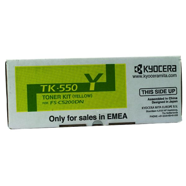 Kyocera TK-550Y Yellow Toner Cartridge (6000 page capacity) 1T02HMAEU0