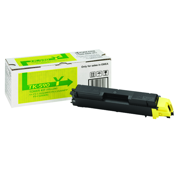 Kyocera Yellow TK-590Y Toner Cartridge
