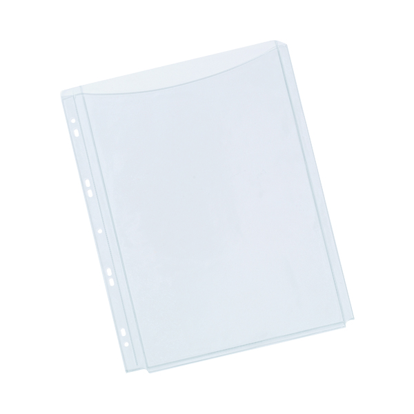 Q-Connect Expanding Punched Pocket Full Length Front A4(Pack of 5) KF00138