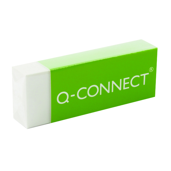 Q-Connect Plastic Eraser White (Pack of 20) KF00236