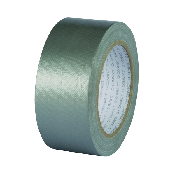 Q-Connect Silver Duct Tape 48mmx25m Roll (Strong adhesive for a secure bond) KF00290
