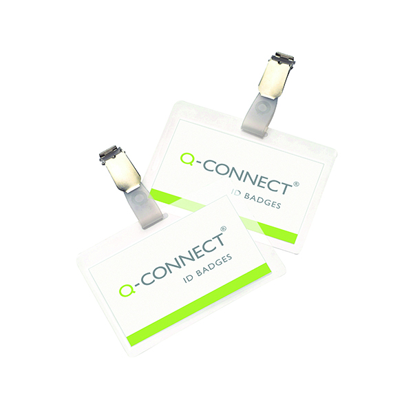 Q-Connect Hot Laminating ID Badge With Clip (Pack of 25)
