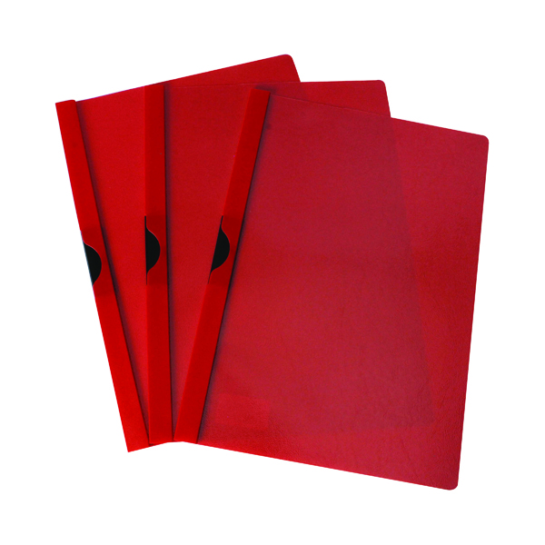 Image for Q-Connect Quickclip File 3mm A4 Red (Pack of 25) KF00461