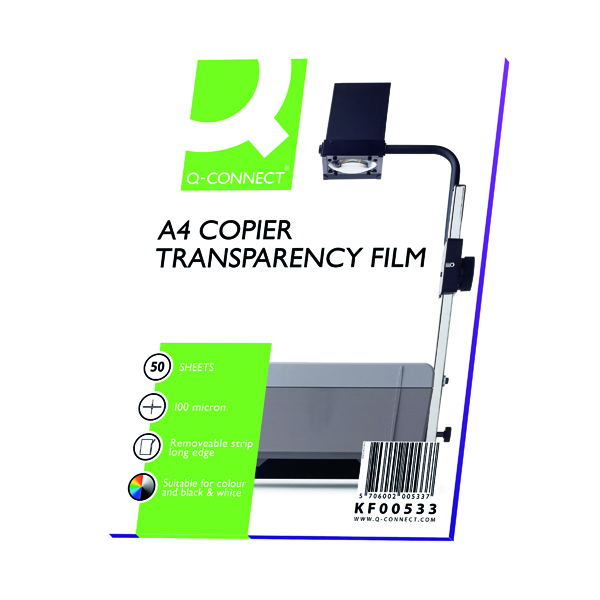 Q-Connect Laser Copier Over Head Projection Film (Pack of 50)