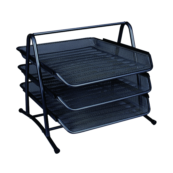 Q-Connect 3 Tier Letter Tray Black