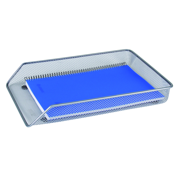 Q-Connect Mesh Letter Tray A4 Silver KF00843