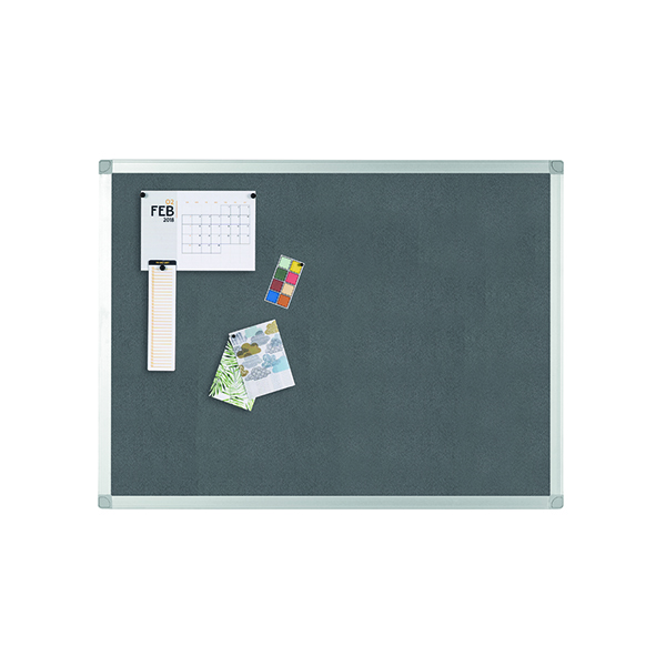 Image for Q-Connect Aluminium Frame Felt Noticeboard 900x600mm Grey 9700025