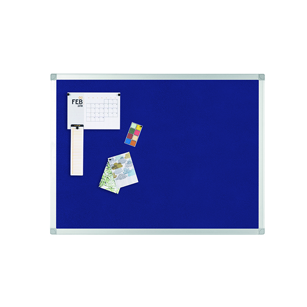 Image for Q-Connect Aluminium Frame Felt Noticeboard 900x600mm Blue 9700028