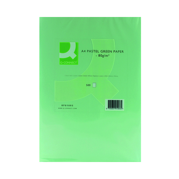 Q-Connect Green A4 Copier Paper 80gsm (Pack of 500)
