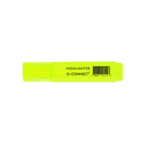 Q-Connect Yellow Highlighter Pen (Pack of 10)