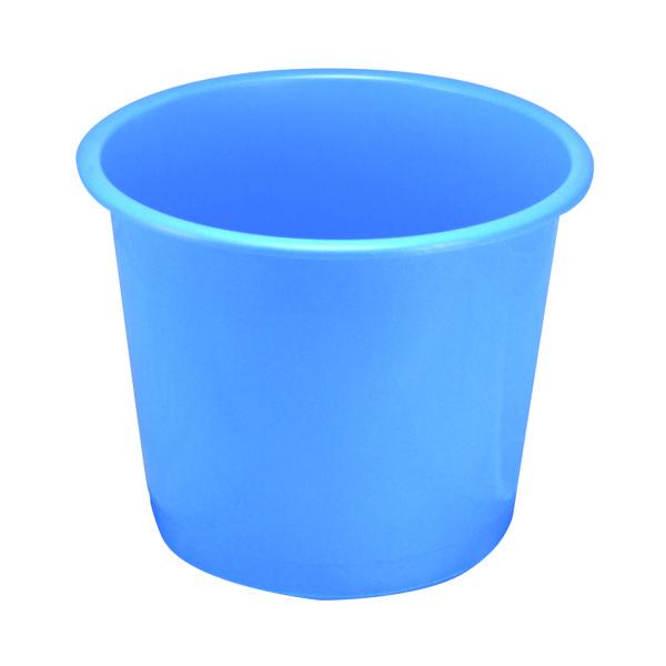 Q-Connect Waste Bin 15 Litre Blue CP025KFBLU