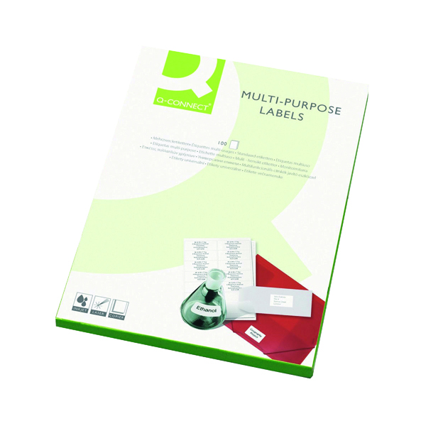 Q-Connect Multipurpose Labels 38.1x21.2mm 65 Per Sheet White (Pack of 6500)