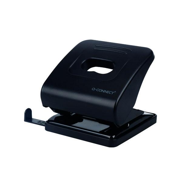 Q-Connect Standard Duty Hole Punch 30 Sheet Black 827P