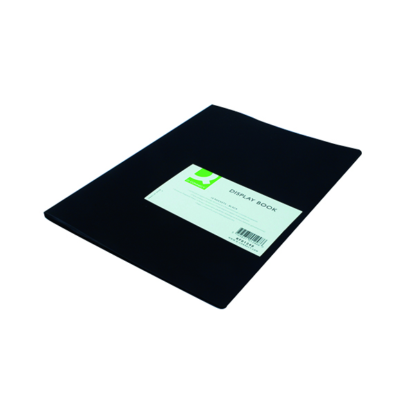 Q-Connect Polypropylene Display Book 10 Pocket Black