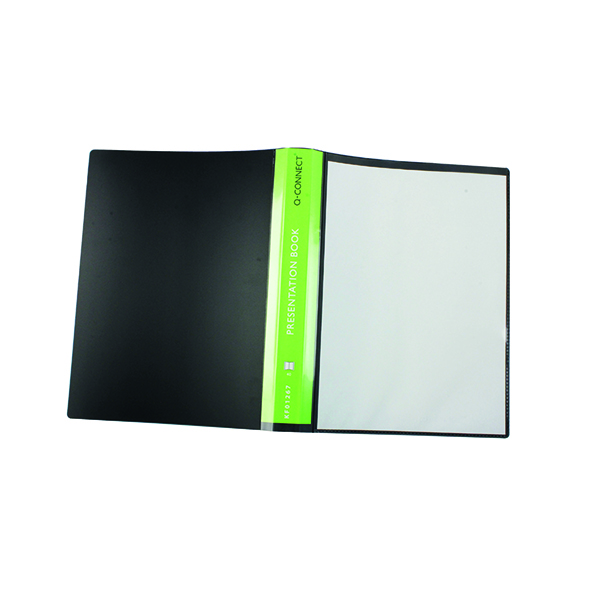 Q-Connect Presentation Display Book 40 Pocket A4 Black