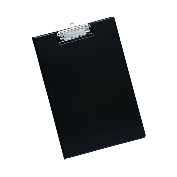 Image for Q-Connect PVC Foldover Clipboard Foolscap Black KF01300