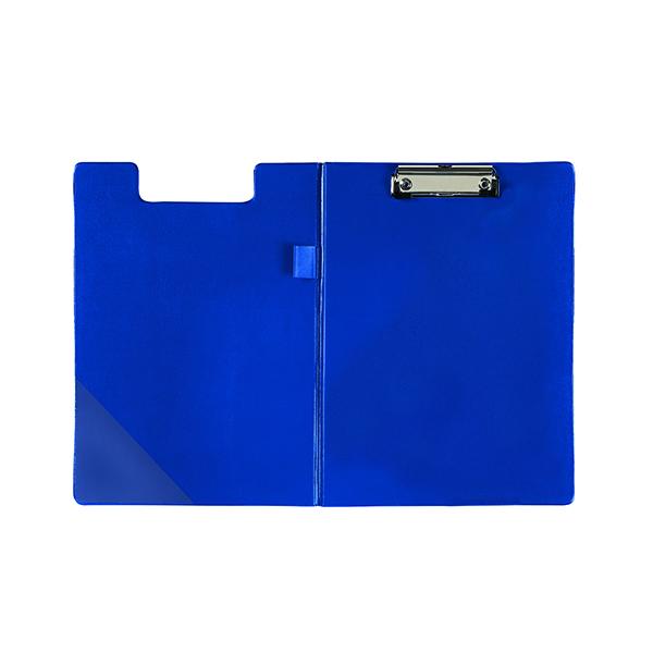 Q-Connect PVC Foldover Clipboard Foolscap Blue