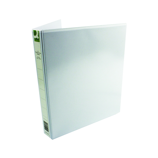 Image for Q-Connect Presentation 25mm 4D-Ring Binder A4 White (Pack of 6) KF01325Q