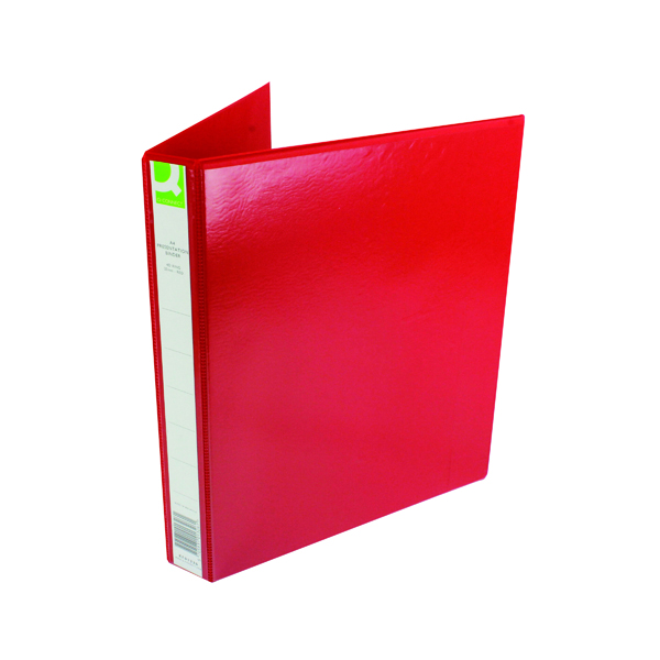 Image for Q-Connect Presentation 25mm 4D-Ring Binder A4 Red KF01326