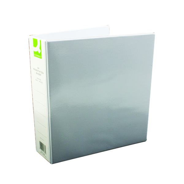 Q-Connect Presentation 50mm 4D Ring Binder A4 White (Pack of 6)