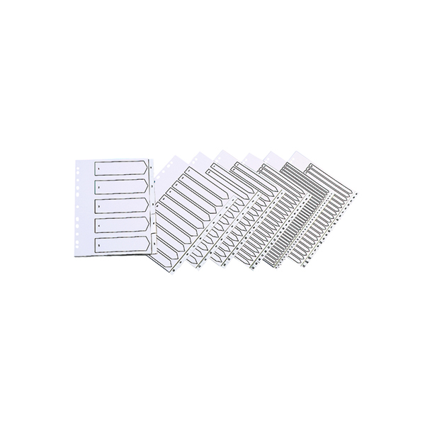 Q-Connect 20-Part A-Z Index Multi-punched Polypropylene White A4 KF01351