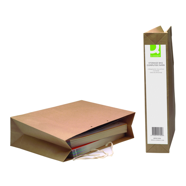 Q-Connect Manilla Computer Paper Storage Bag (Pack of 25) KF01392